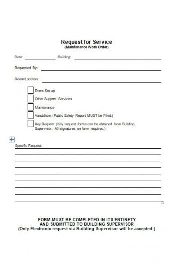 printable free 26 repair work order form in pdf  ms word property management work order template doc