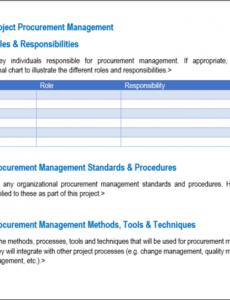 sample procurement management  7 steps to developing a procurement management plan template doc