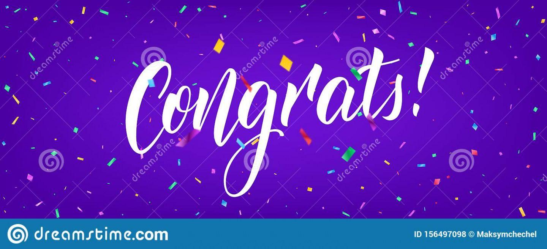 congratulations banner design with confetti and congrats congratulations banner template doc