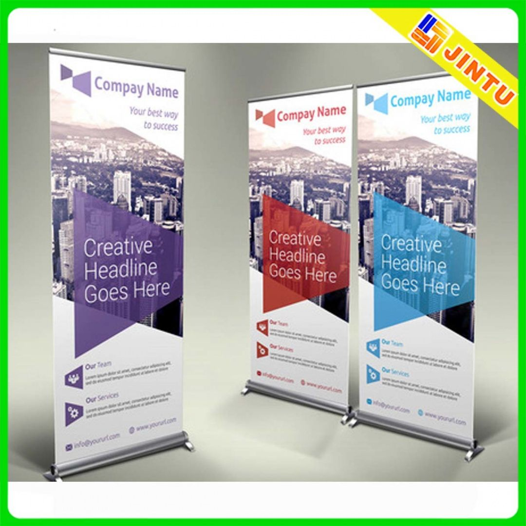 editable 20 creative vertical banner design ideas  vendor booth trade show banner template excel