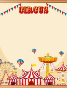 editable blank circus template frame 695855 vector art at vecteezy circus banner template