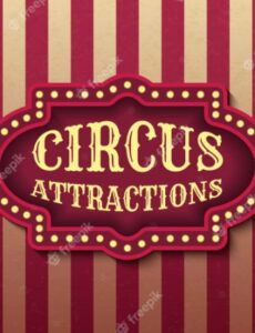 editable circus attraction template of stock banner brightly circus banner template pdf