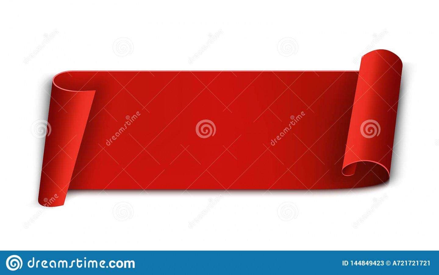 editable creative illustration of realistic curved paper ribbon curved banner template doc