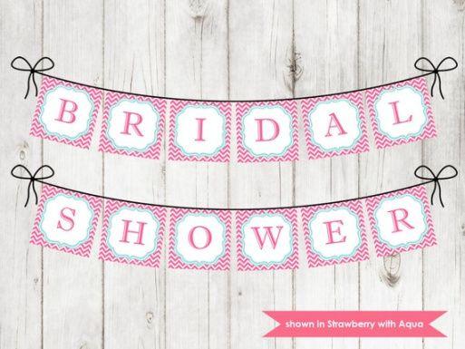 editable items similar to printable bridal shower banner  shower bridal shower banner template excel