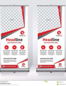 editable roll up banner design template vertical abstract pull up banner design template doc