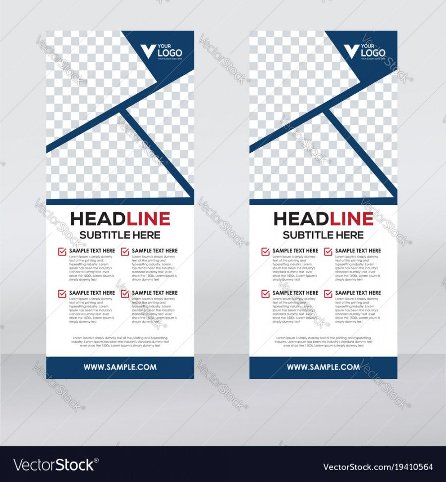 free creative roll up banner design template royalty free vector pull up banner design template
