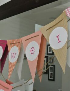 free the sugar & spice mommy orange coral and pink bridal bridal shower banner template pdf
