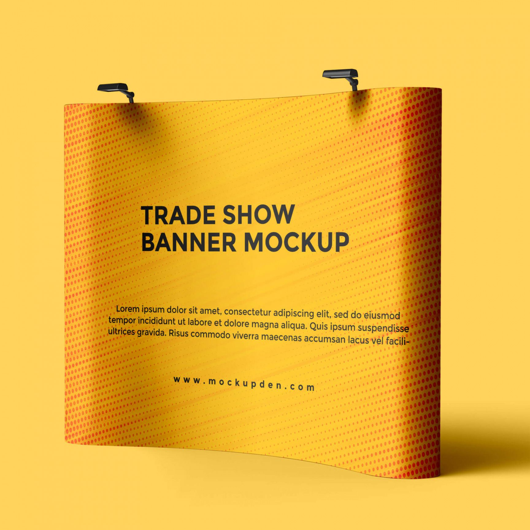 free trade show banner mockup psd template  mockup den trade show banner template