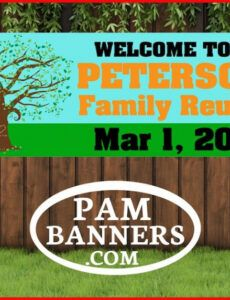 large family reunion banner and signs 6x2 with grommets  etsy family reunion banner template