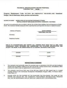 printable 9 proposal contract templates  pdf doc  free & premium proposal contract template doc