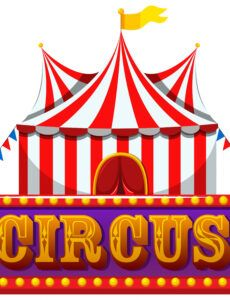 printable a circus banner on white background 294934 vector art at circus banner template example