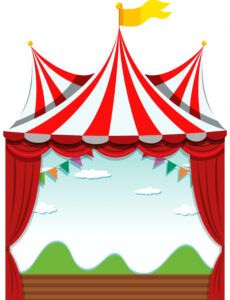 printable an isolated circus banner  download free vectors clipart circus banner template