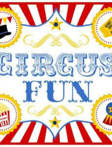 printable carnival signs template  clipart best circus banner template