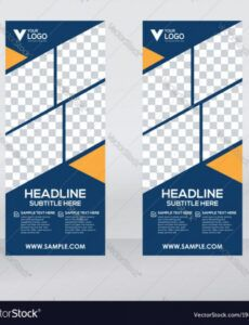 printable creative roll up banner design template royalty pull up banner design template