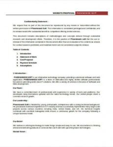 printable proposal contract templates  8 free word pdf format proposal contract template word