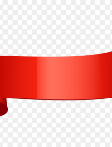 printable red curved ribbon banner on transparent background png curved banner template pdf
