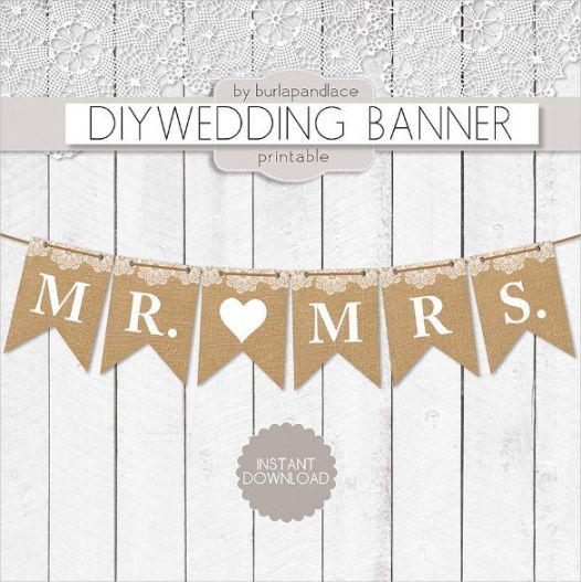 printable wedding banner template  21 free psd ai vector eps bridal shower banner template excel