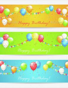 sample birthday banner template  22 free psd ai vector eps party banner template excel