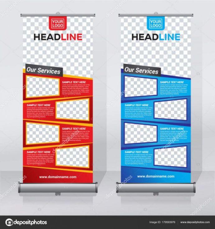 sample editable roll up banner design template abstract pull up banner design template excel