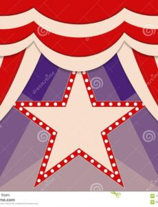sample poster template with retro star circus banner design for circus banner template doc