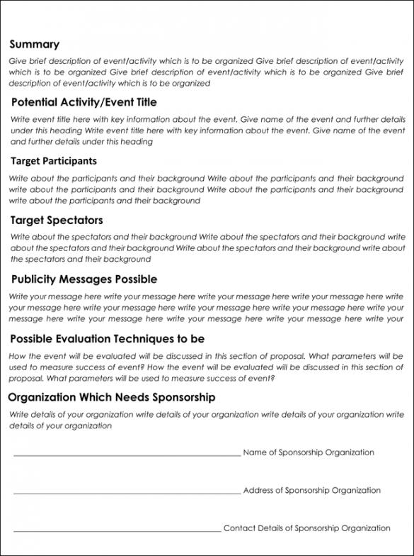 editable 30 free sponsorship proposal templates & samples how to media sponsorship proposal template