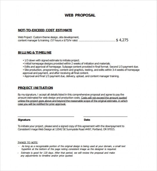 editable sample web design proposal template  8 free documents in website request for proposal template word