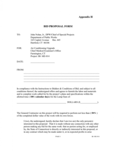 free bid proposal form in word and pdf formats medical project proposal template example