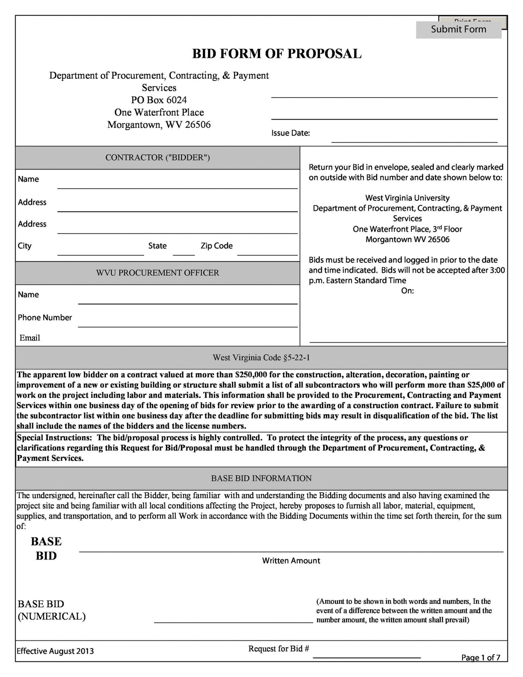 free contractor proposal template pdf ~ addictionary generic proposal template pdf