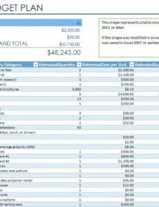 free marketing event budget template excel budget proposal template for an event doc