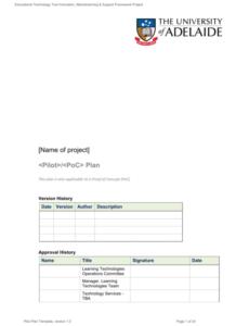 free pilot plan template version 1 0 pilot project proposal template