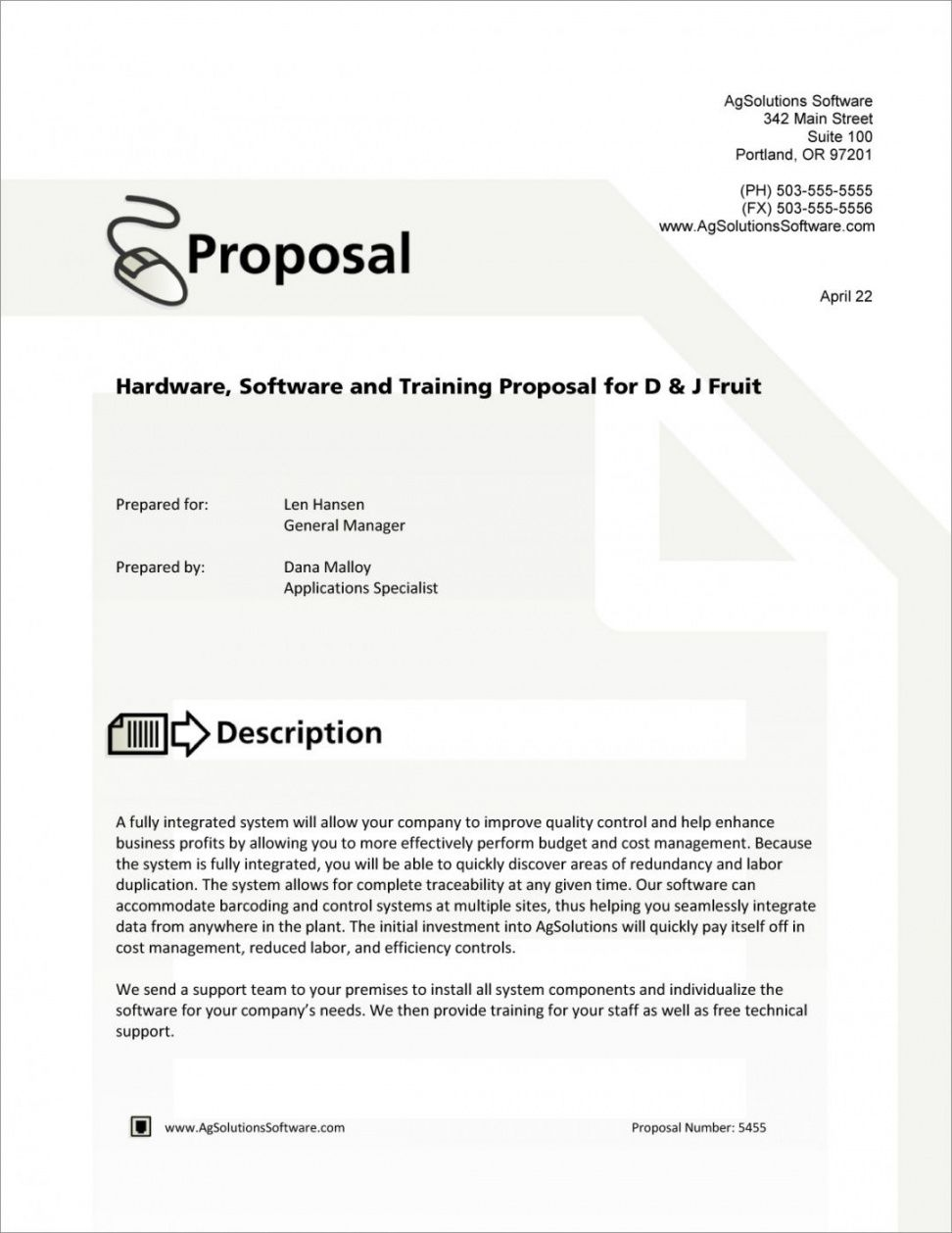 free software training proposal template writing proposal template example