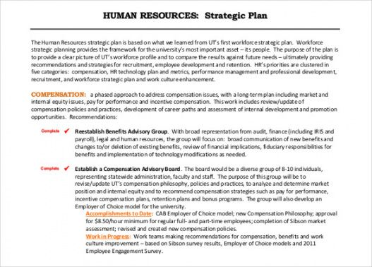printable 14 hr strategic plan templates  pdf word  examples human resources proposal template