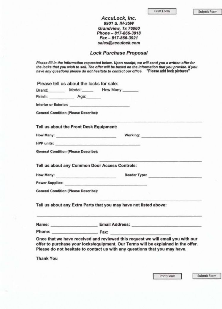 printable equipment purchase proposal template generic proposal template