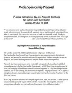 printable nonprofit proposal template examples proposal template for non profit organization example