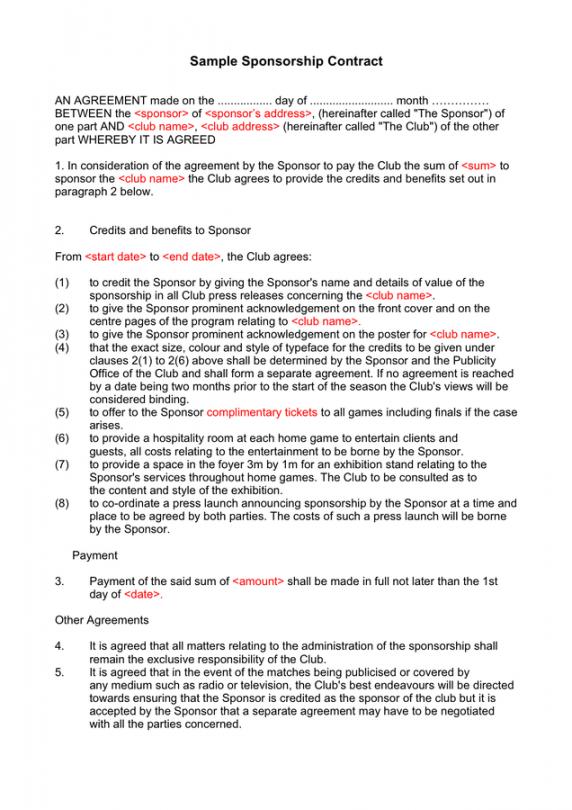 printable sponsorship proposal template  download free documents media sponsorship proposal template word