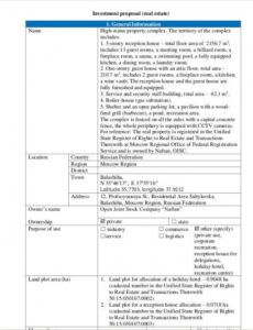 sample 10 free real estate investment proposal templates  pdf sample investment proposal template excel