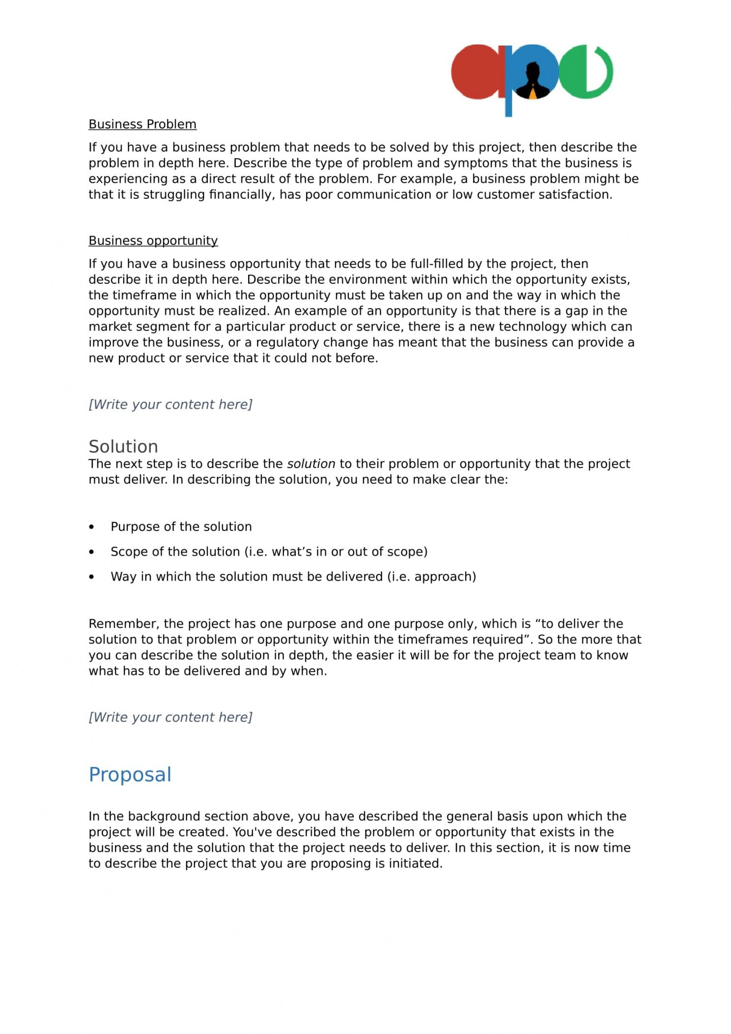 sample project proposal template  ape template proposal project word
