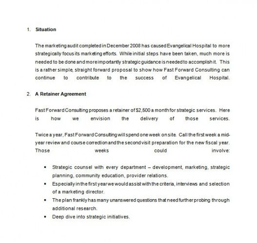 sample retainer proposal template  williamsonga graphic design retainer proposal template word